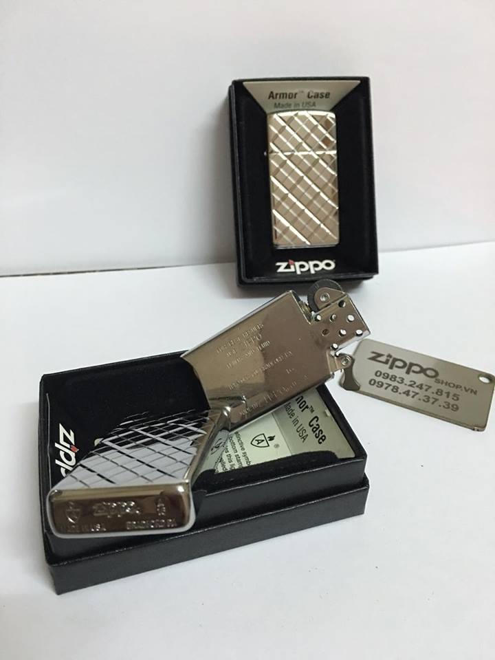 Zippo 29186 - Zippo Slim Armor Elegance Deep Carved High Polish Chrome 1