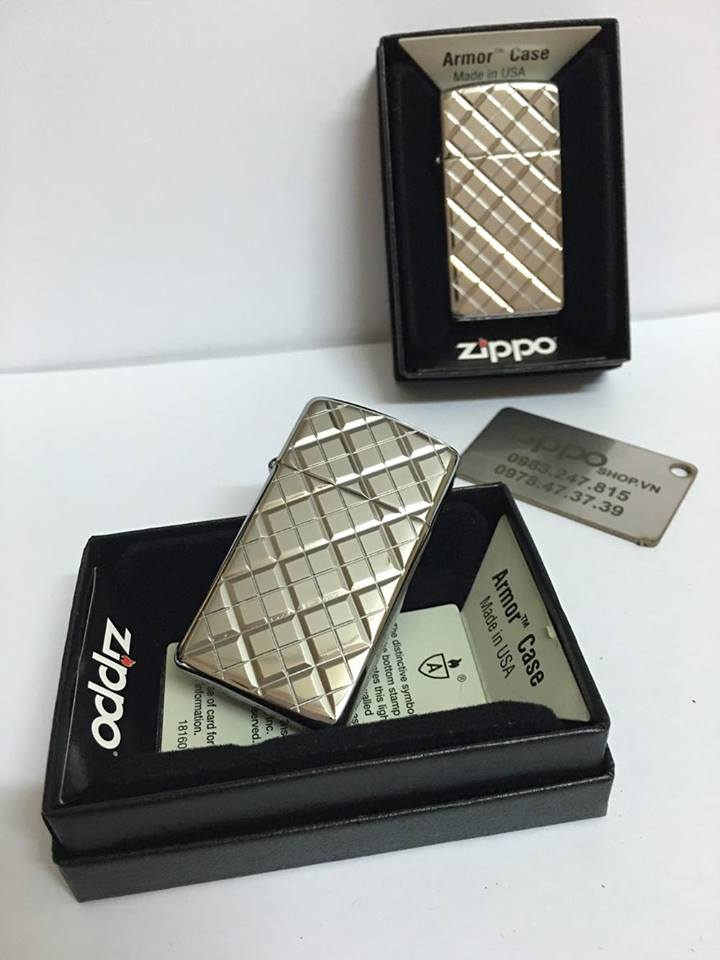 Zippo 29186 - Zippo Slim Armor Elegance Deep Carved High Polish Chrome 2