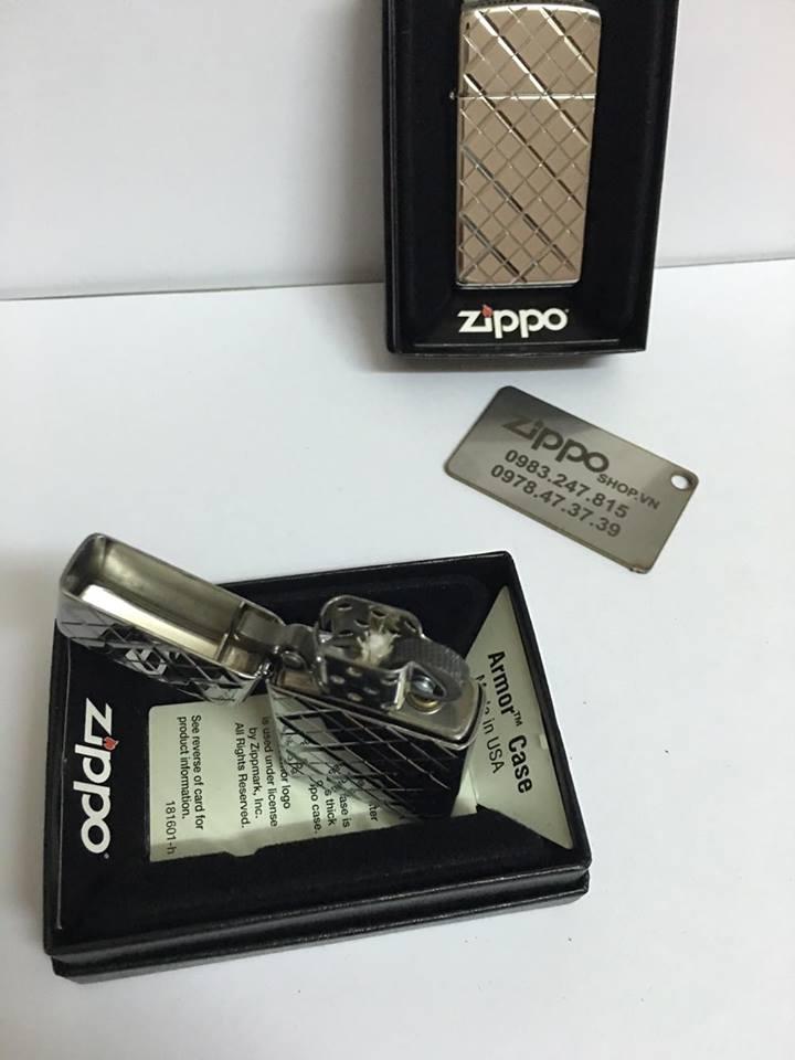 Zippo 29186 - Zippo Slim Armor Elegance Deep Carved High Polish Chrome 5