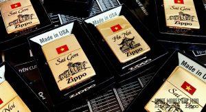 Khắc ăn mòn axit phủ sơn trên Zippo
