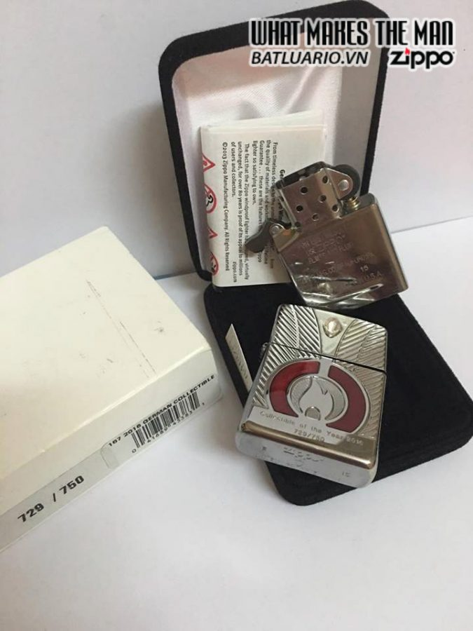 ZIPPO LIMITED ARMOR CASE COLLECTIBLE OF THE YEAR 2016 EU 4