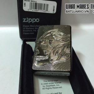 Zippo 29230 – Zippo Deep Carved Flaming Skull 6