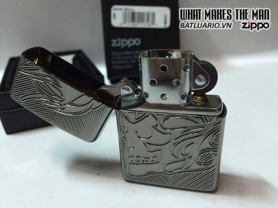 Zippo 29230 – Zippo Deep Carved Flaming Skull 4