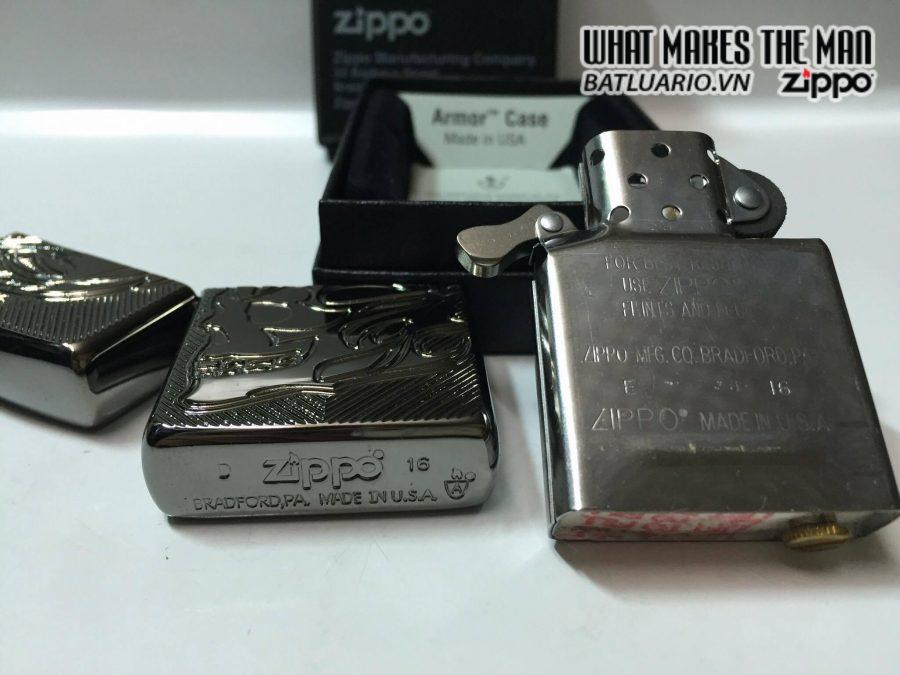 Zippo 29230 – Zippo Deep Carved Flaming Skull 5