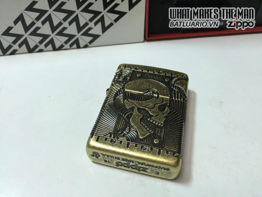 Zippo 29268 – Zippo Steampunk 360 Multicut Antique Brass Armor 6