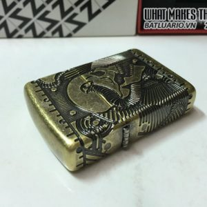 Zippo 29268 – Zippo Steampunk 360 Multicut Antique Brass Armor 1
