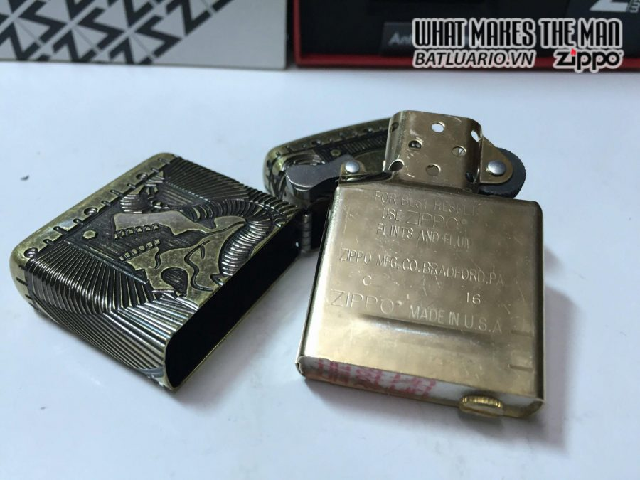 Zippo 29268 – Zippo Steampunk 360 Multicut Antique Brass Armor 3
