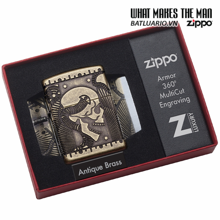 Zippo 29268 – Zippo Steampunk 360 Multicut Antique Brass Armor 4