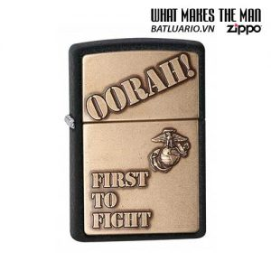 Zippo 28368 – Zippo First to Fight Black Crackle