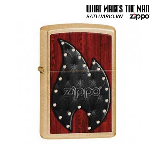 Zippo 28832 – Zippo Leather Flame Gold Dust