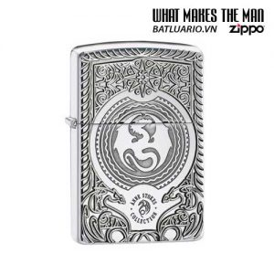 Zippo 28962 - Zippo Anne Stokes Dragon Circle Armor High Polish Chrome