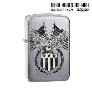 Zippo 29093 - Zippo 1941 Replica American Flag Brushed Chrome