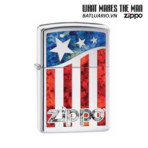 Zippo 29095 - Zippo Us Flag Polished Chrome