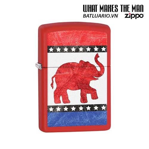 Zippo 29167 – Zippo Republican Party Elephant Red Matte