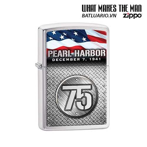Zippo 29176 – Zippo Pearl Harbor 75th Anniversary Brushed Chrome