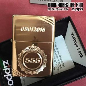 ZIPPO KHẮC LOGO THUỐC LÁ 555 - ZIPPO 270.555