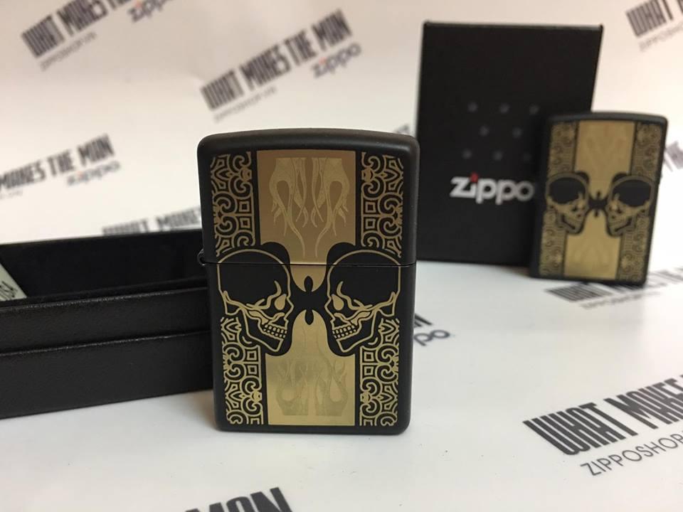 Zippo 29404 - Zippo Skulls Black Matte 1