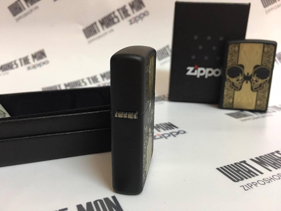 Zippo 29404 - Zippo Skulls Black Matte 2