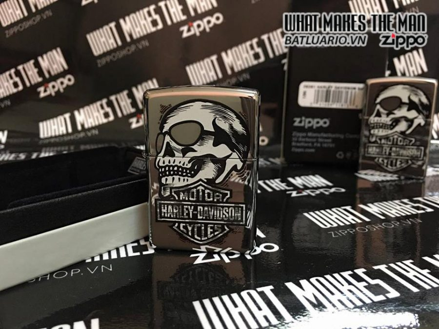Zippo 29281 – Zippo HD Skull High Polish Chrome 4