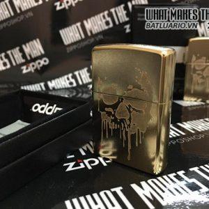 Zippo 29401 – Zippo Grunge Skull Gold Dust 5