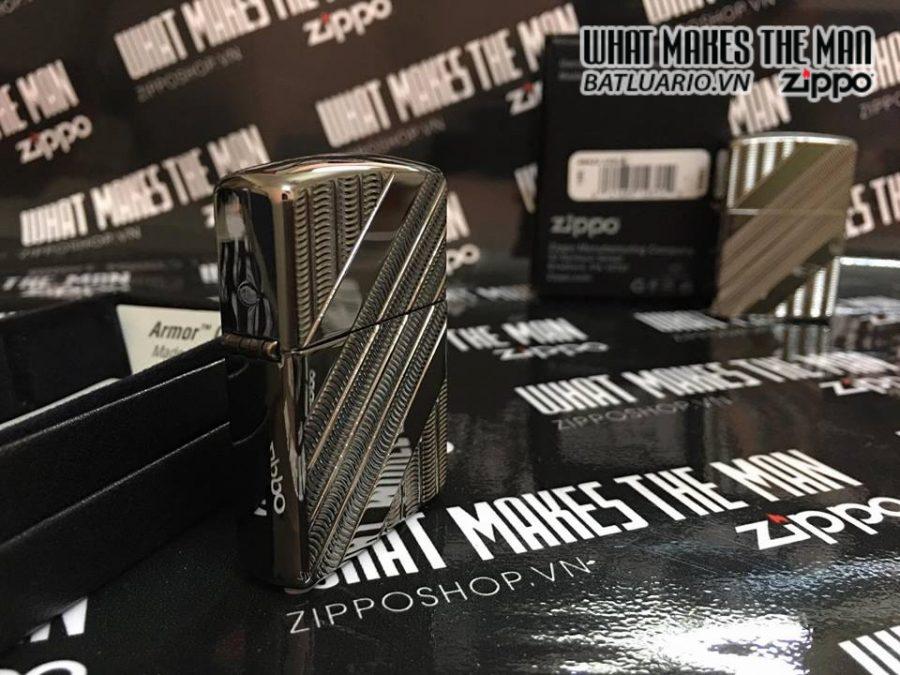 Zippo 29422 – Zippo High Polish Black Ice Armor 1