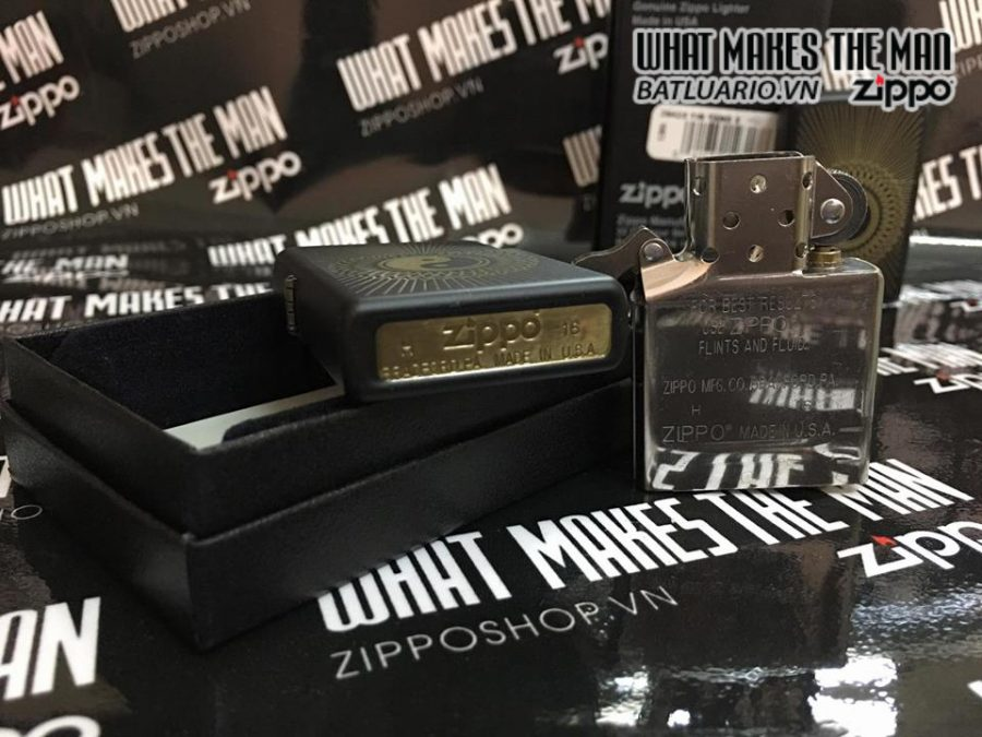 Zippo 29423 – Zippo Yin Yang Black Matte 2