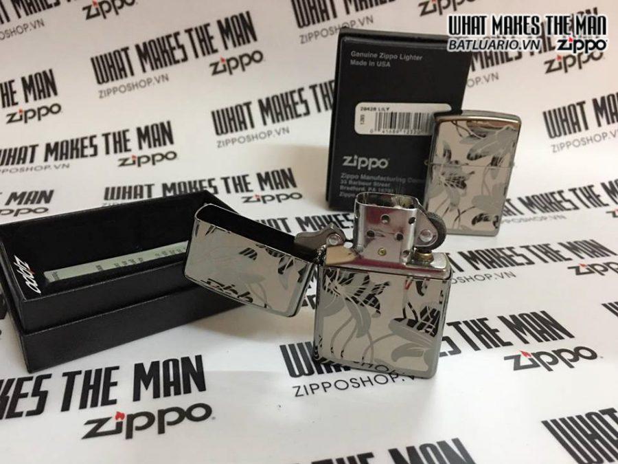 Zippo 29426 – Zippo Lily Black Ice 5
