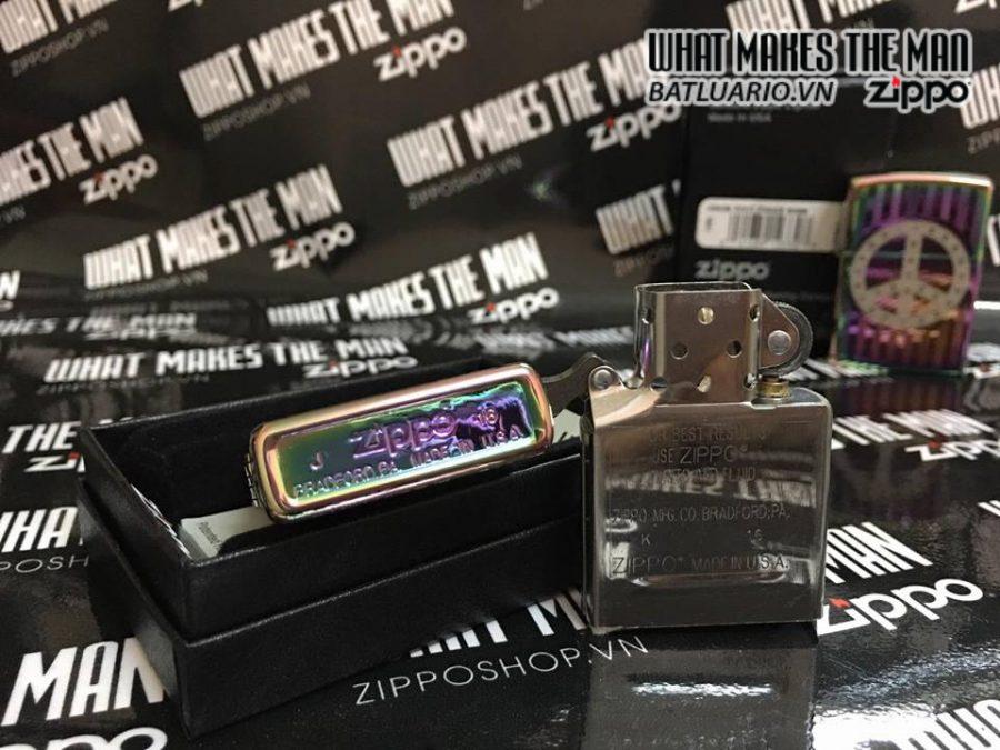 Zippo 29435 – Zippo Logo Zippo Rivet Peace Sign Spectrum 4