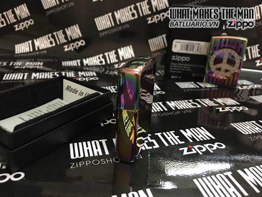 Zippo 29435 – Zippo Logo Zippo Rivet Peace Sign Spectrum 6