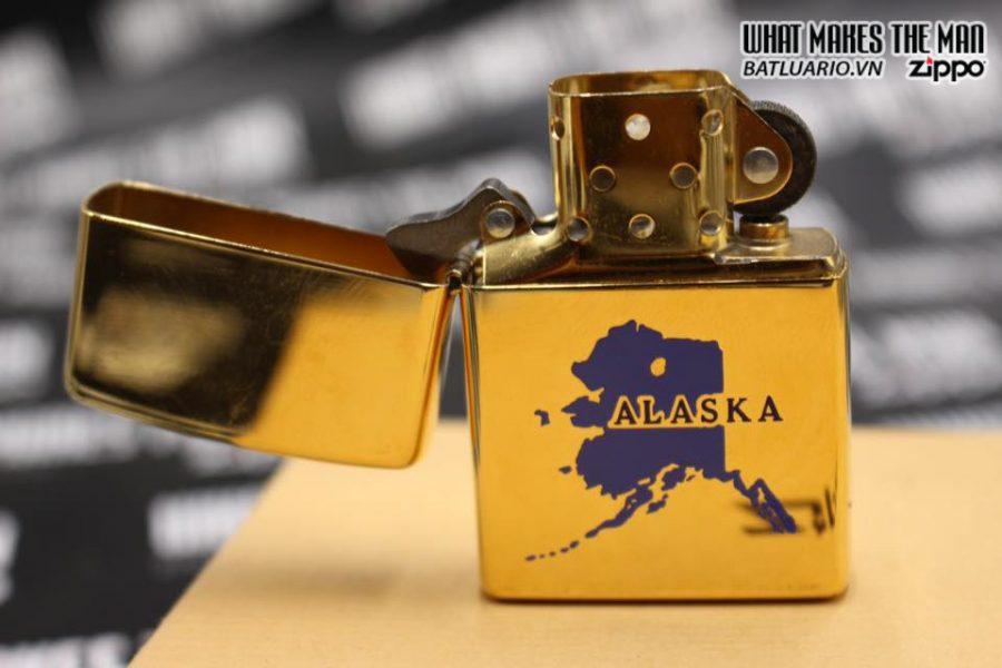 ZIPPO 1996 – ĐỒNG NGUYÊN KHỐI MẠ VÀNG – CHỦ ĐỀ ALASKA 6