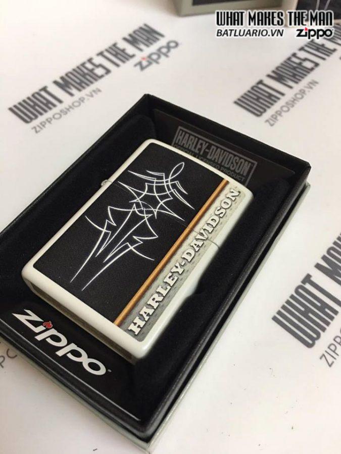 Zippo 28978 – Zippo Harley Davidson White Matte 3