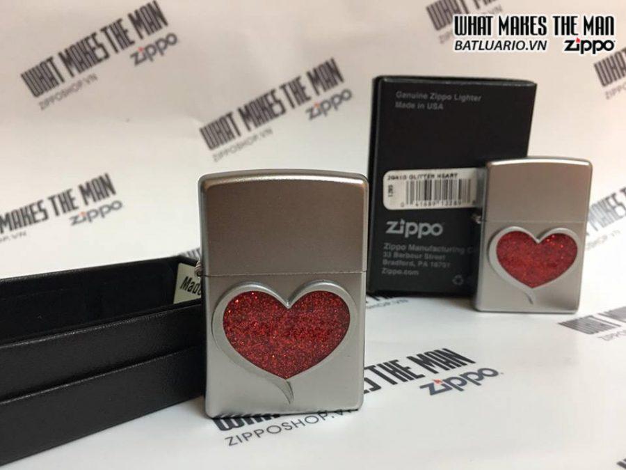 Zippo 29410 – Zippo Glitter Heart Satin Chrome 4