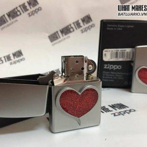 Zippo 29410 – Zippo Glitter Heart Satin Chrome 6