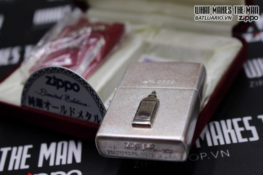 Zippo Atique silver 1999 xuất nhật – No Limited 312 8