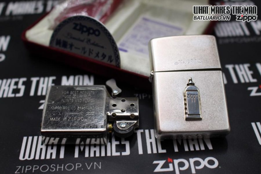 Zippo Atique silver 1999 xuất nhật – No Limited 312 3