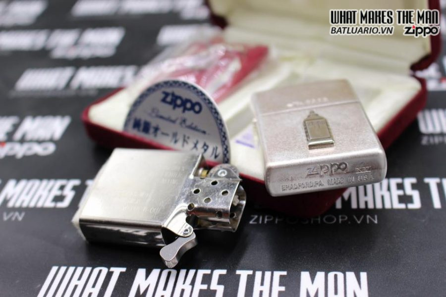 Zippo Atique silver 1999 xuất nhật – No Limited 312 5