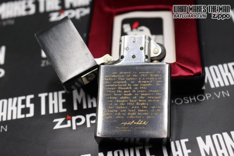 Zippo Tái bản replica 1932 – titanium coating năm 88-93 4