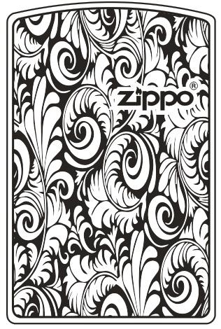 MẪU KHẮC ZIPPO 108 - HOA VĂN ZIPPO