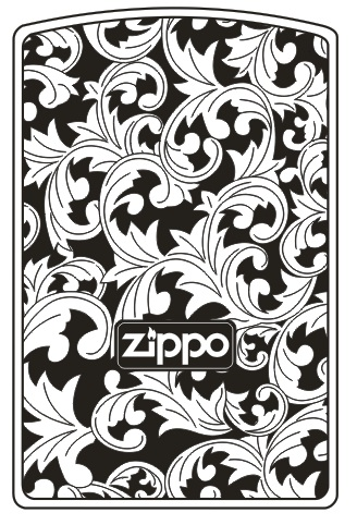 MẪU KHẮC ZIPPO 98 - HOA VĂN ZIPPO