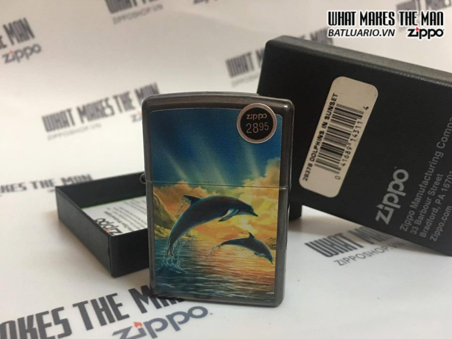 ZIPPO 28378 DOLPHINS IN SUNSET 1