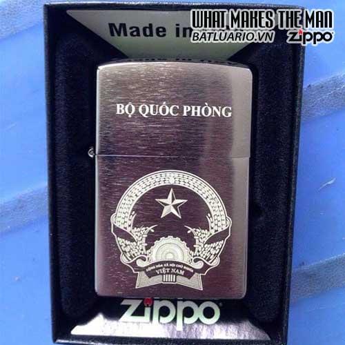 ZIPPO KHẮC BỘ QUỐC PHÒNG – ZIPPO 200.BQP