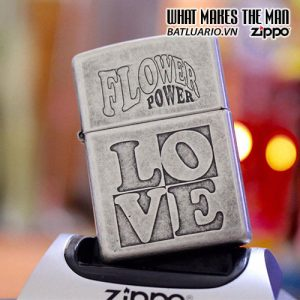ZIPPO 121FB FLOWER POWER LOVE