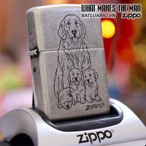 ZIPPO 121FB ZIPPO - DOG WITH PUPPY