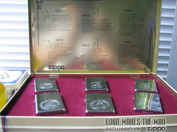 ZIPPO COTY 1992 - Single lighter Set of 6 Companion Pieces issued 1