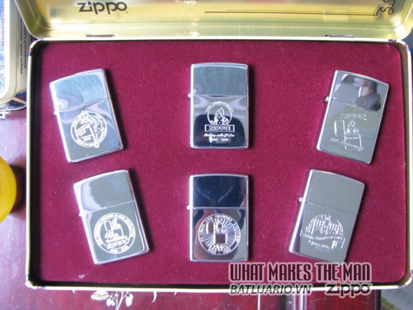 ZIPPO COTY 1992 - Single lighter Set of 6 Companion Pieces issued 2
