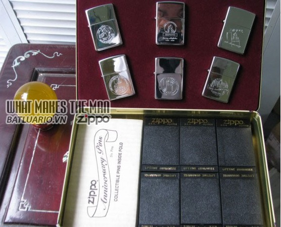 ZIPPO COTY 1992 - Single lighter Set of 6 Companion Pieces issued 3