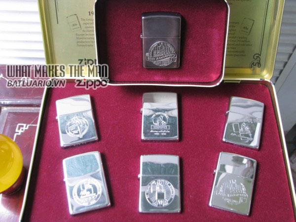 ZIPPO COTY 1992 - Single lighter Set of 6 Companion Pieces issued 6