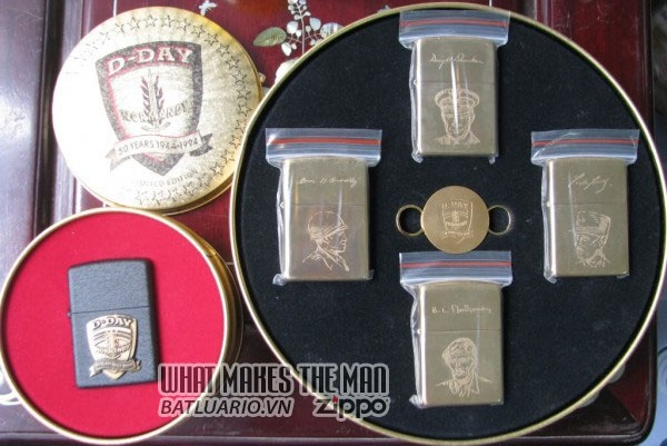 ZIPPO COTY 1994 - D-Day Single lighter Allied-Heroes 4 lighter Companion Set 2