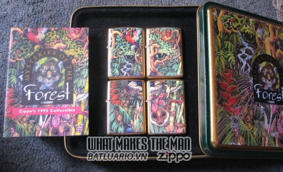 ZIPPO COTY 1995 - Mysteries of the Forest 4 Lighter set 2