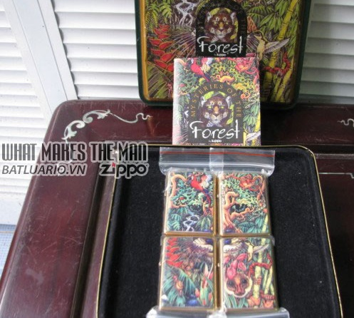 ZIPPO COTY 1995 - Mysteries of the Forest 4 Lighter set 4